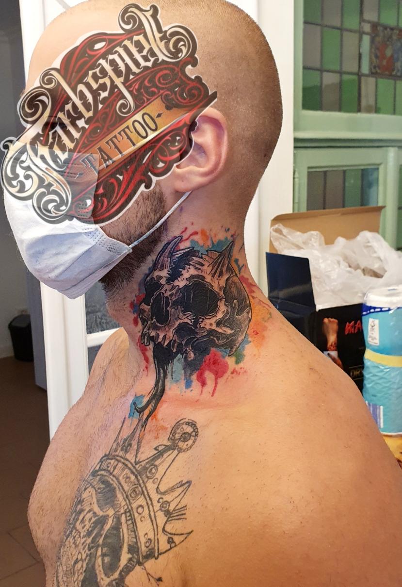 #watercolorskull #schädel #tattoo