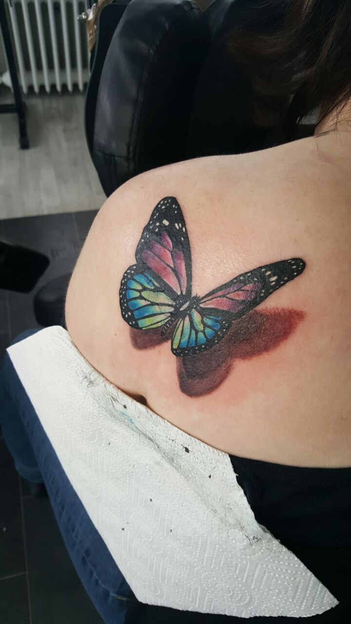 3D Schmetterling Tattoo