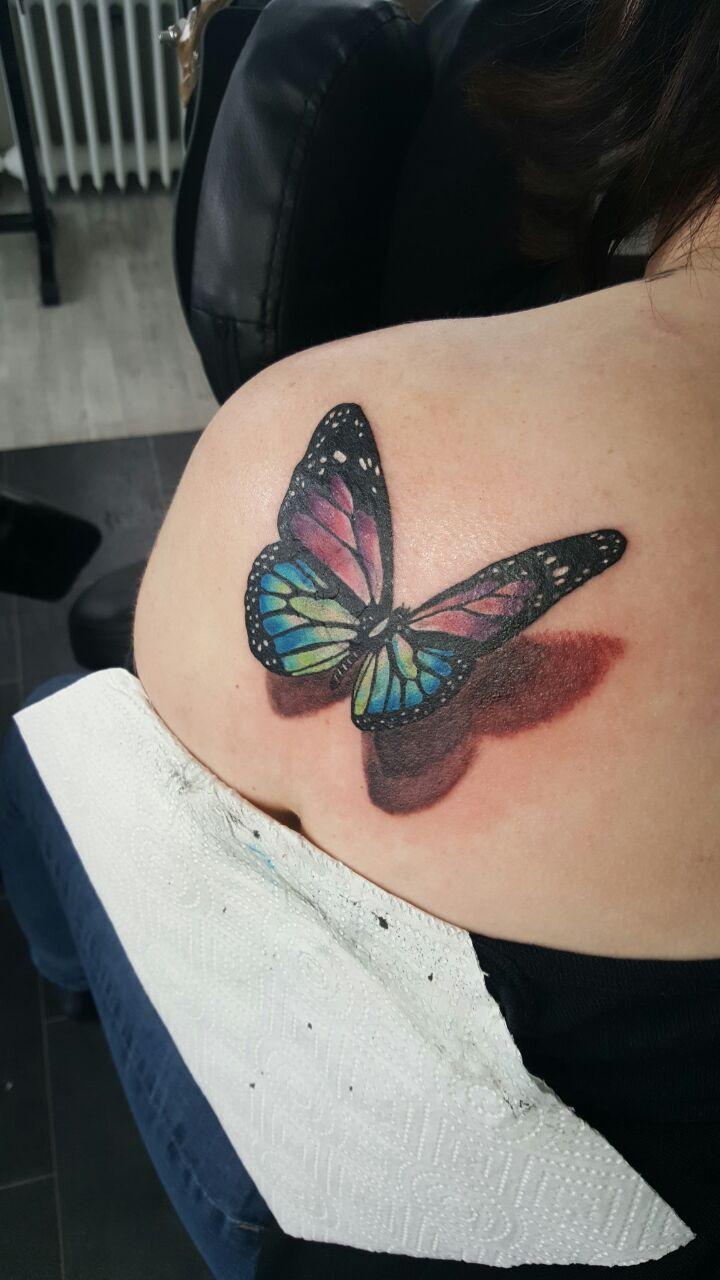 3D Schmetterling Tattoo