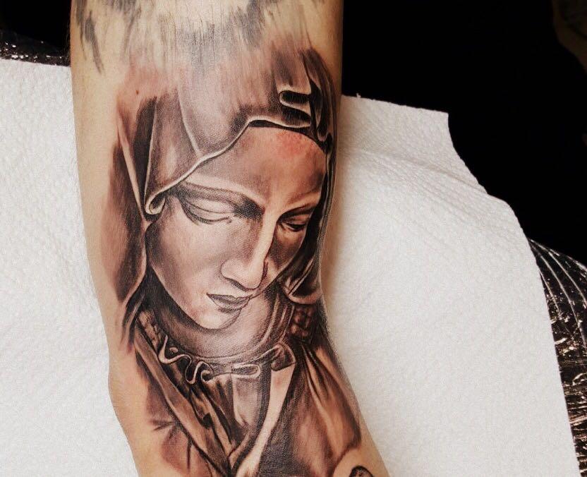 Heilige Maria Tattoo