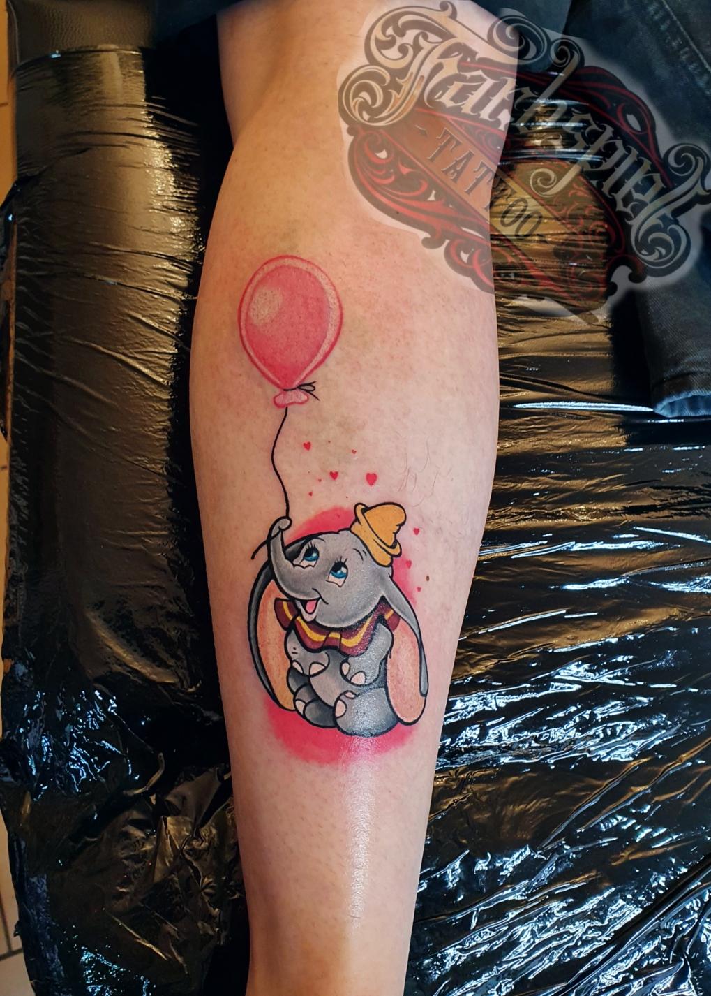 #Disneys #dumbo #tattoo #farbspieltattoo