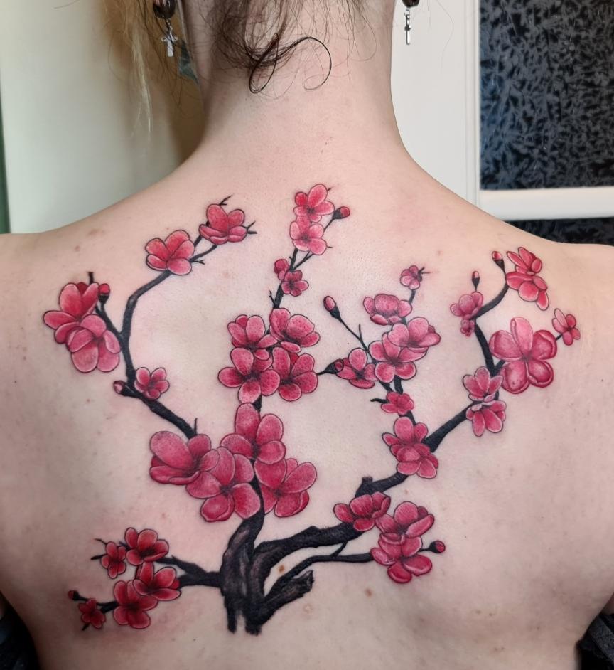 #Kirschblütentattoo #flower #blumen #farbspieltattoo