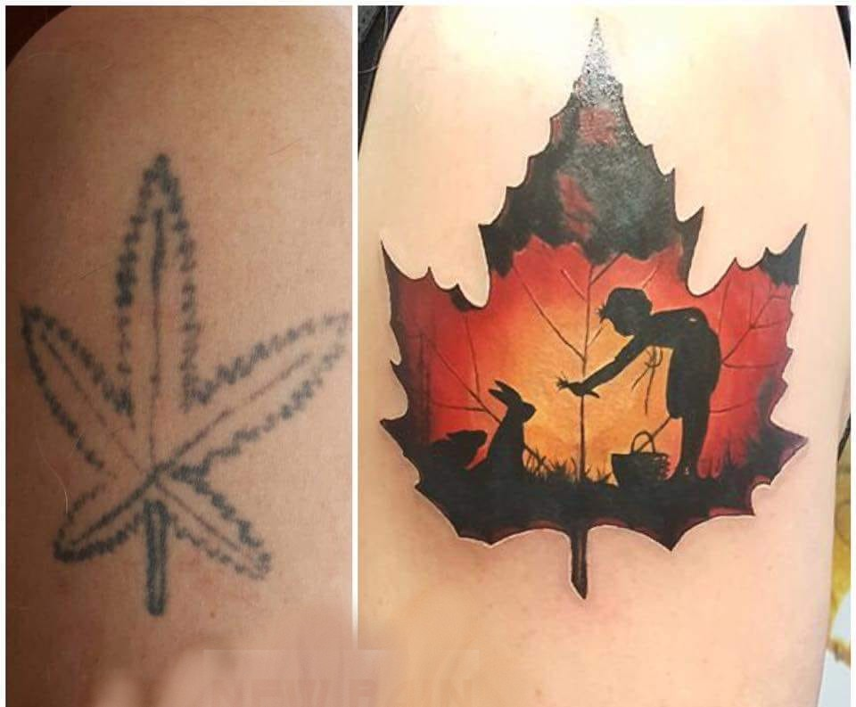 Coverup, Jugendsünde ade Tattoo