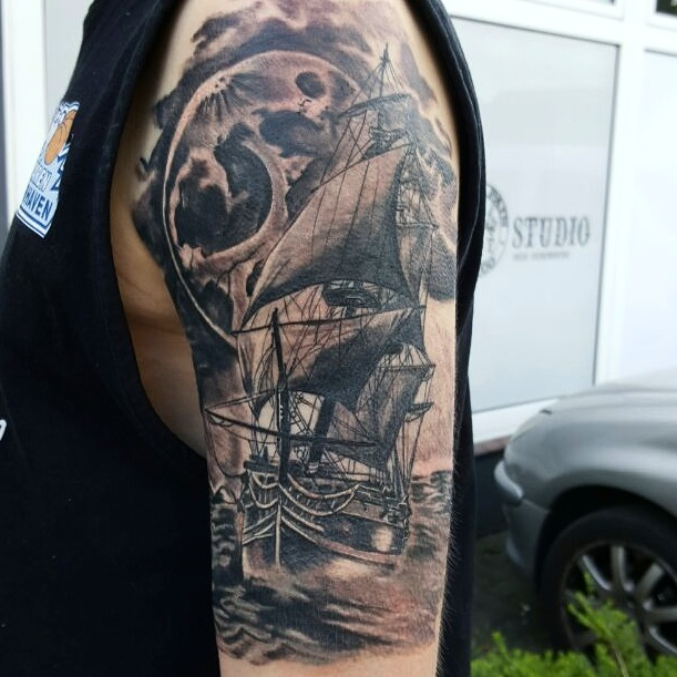 Segelschiff Tattoo