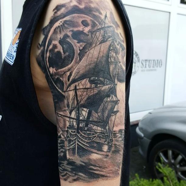 Segelschiff Tattoo