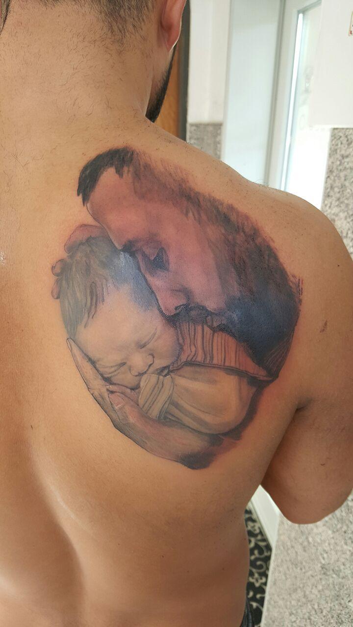 Vater und Sohn Portrait