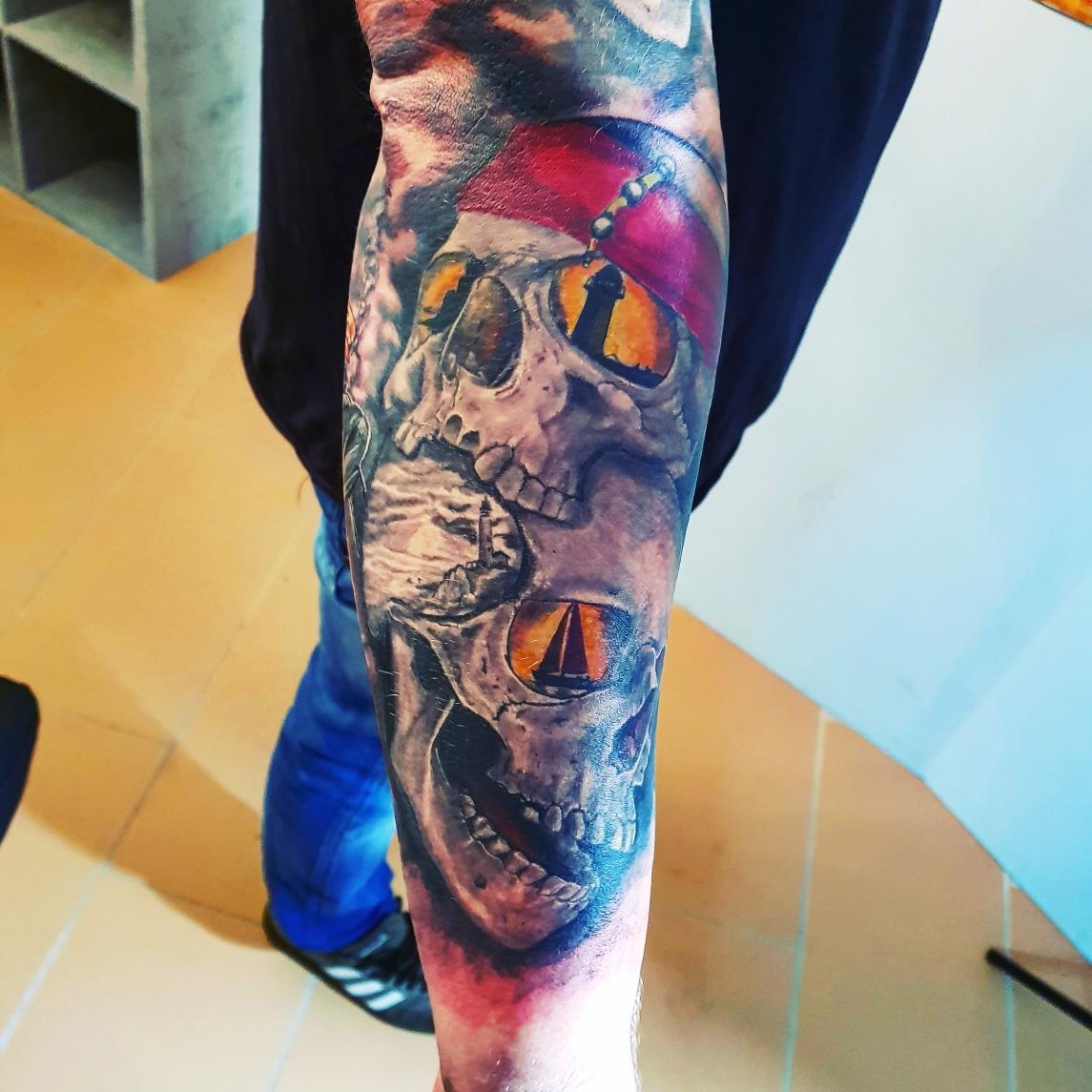 Schädel Tattoo Design
