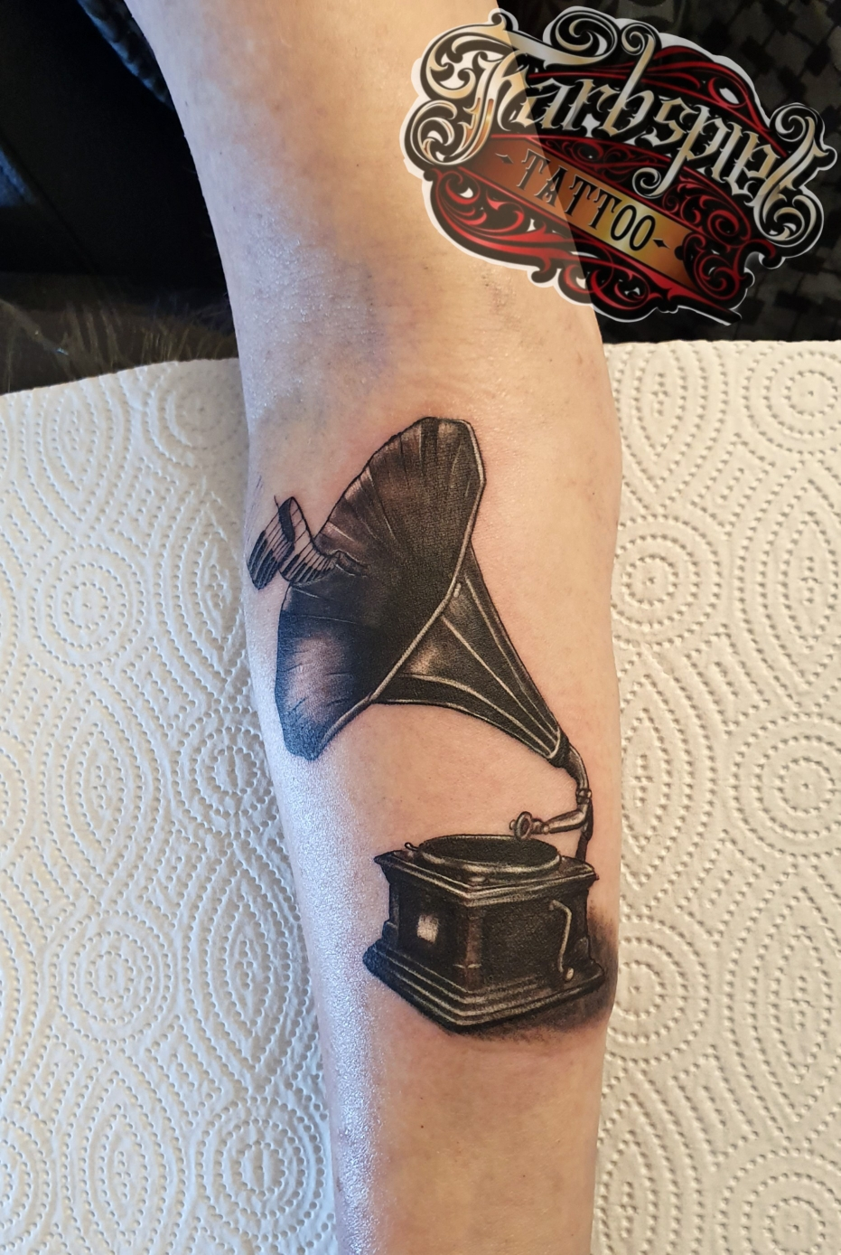 Grammophon tattoo