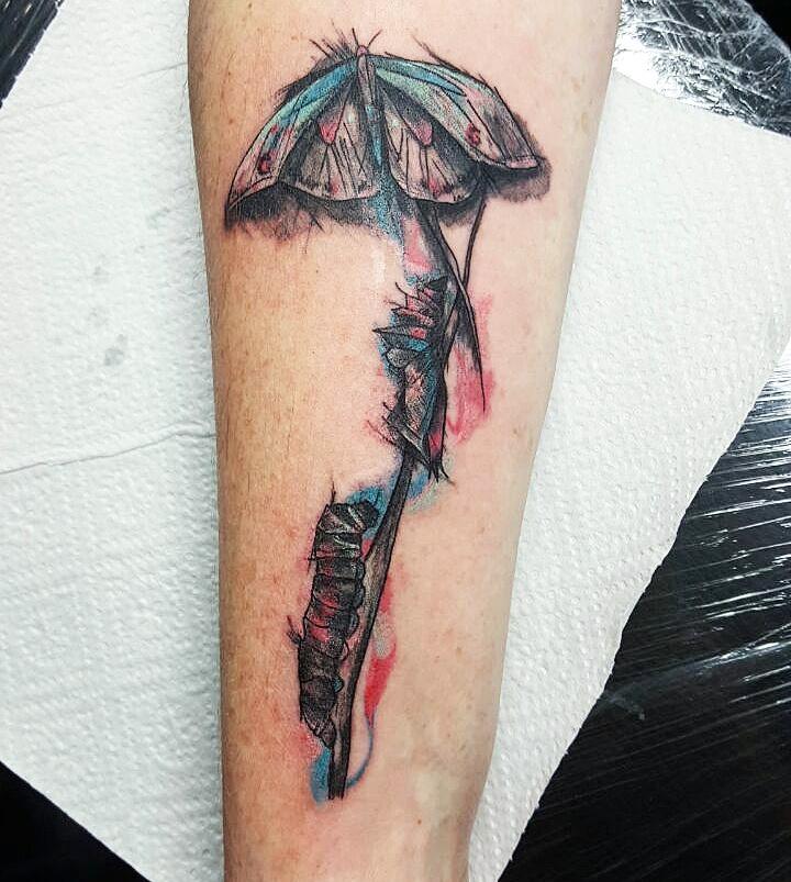 Watercolor Motten Tattoo