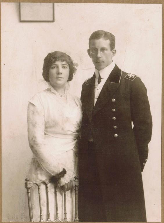 Алина и Константин Кожевины. Сентябрь, 1915 г.