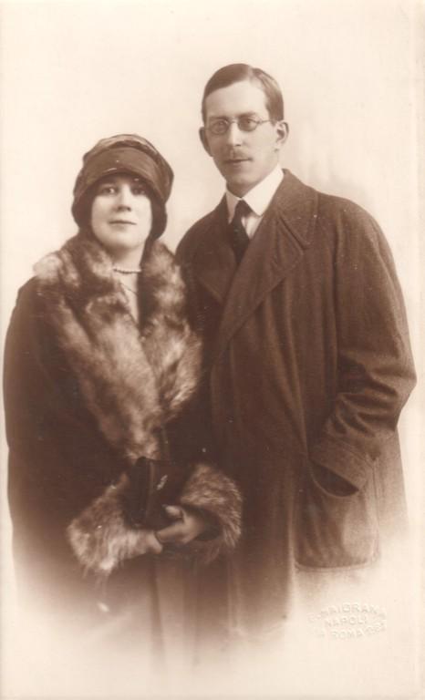 Alina and Constantin Kogevin. Italy, 1927