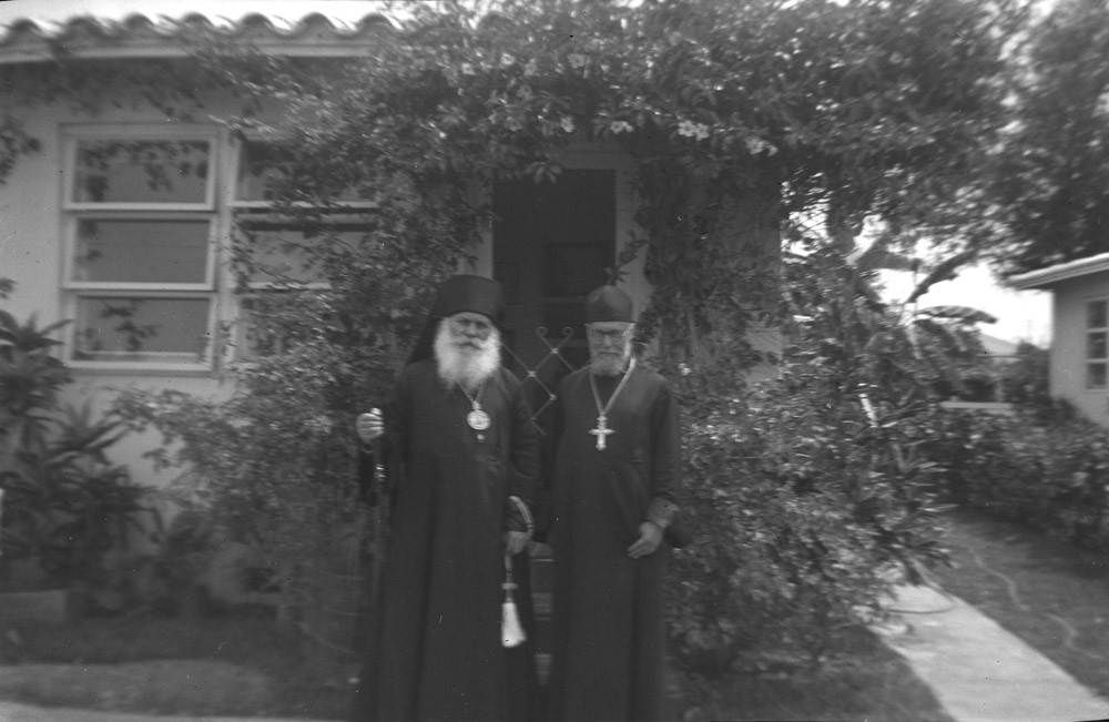 Left to right: Archbiship Nikon  and Fr. Theodor Rajewski