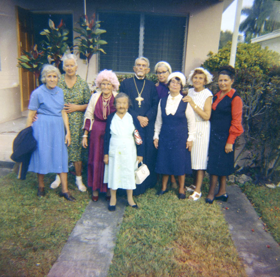 A group of St. Vladimir Church parishioners. Miami, 1975-1977