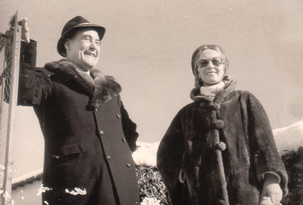 Erich Maria Remarque with his first wife Jutta, Switzerland