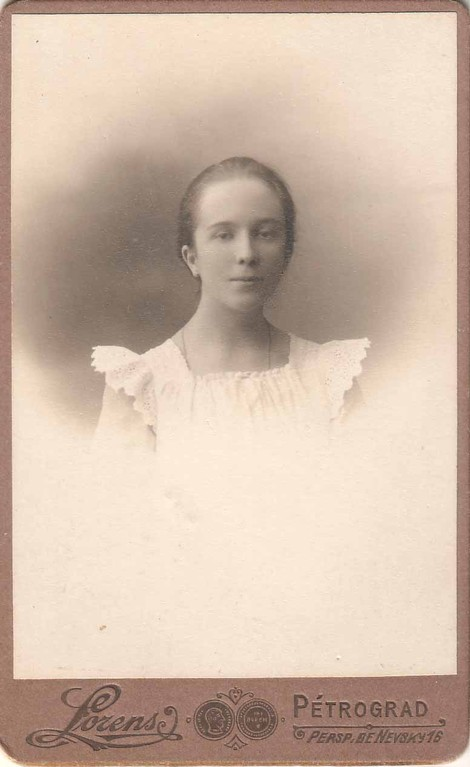 Nina Breshko-Breshkovsky as a student of the Smolny Institute for Noble Girls