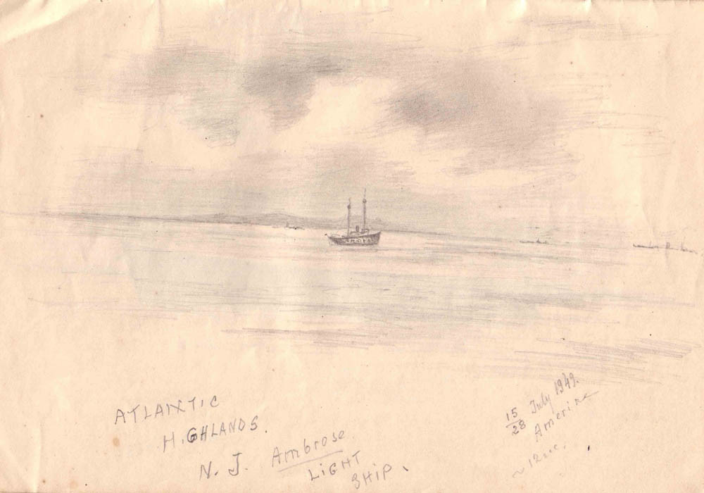 Atlantic Highlands, N.J. Ambrose Light Ship 28.07.1949 г. 12 ч. утра