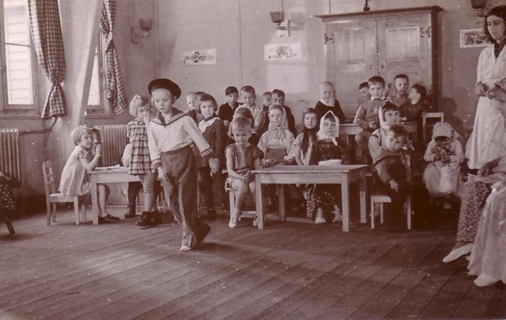 Детский сад в лагере для перемещенных лиц в Куфштайне, 1945-49 гг.