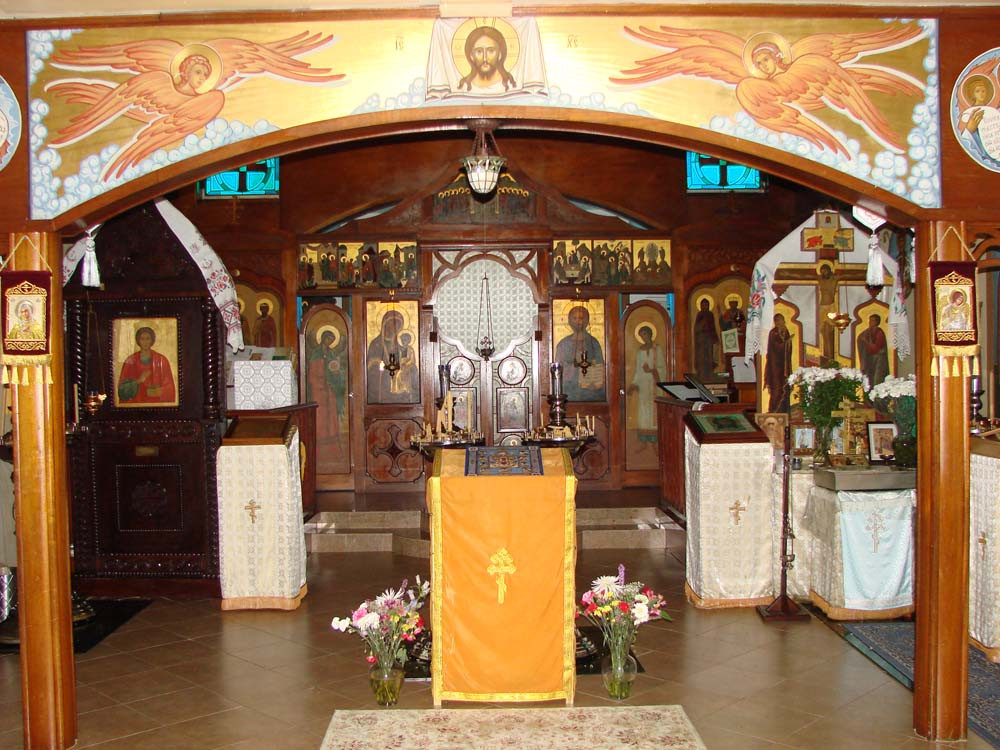 Интерьер храма Св. князя Владимира в Майами. Сентябрь 2010 г.
