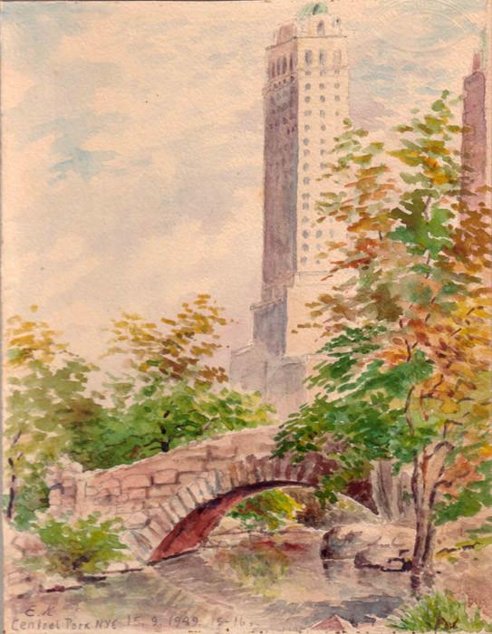 Нью-Йорк, Центральный парк. 1949 г.