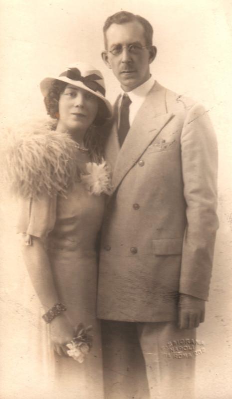 Алина и Константин Кожевины. Италия, 1935 г.