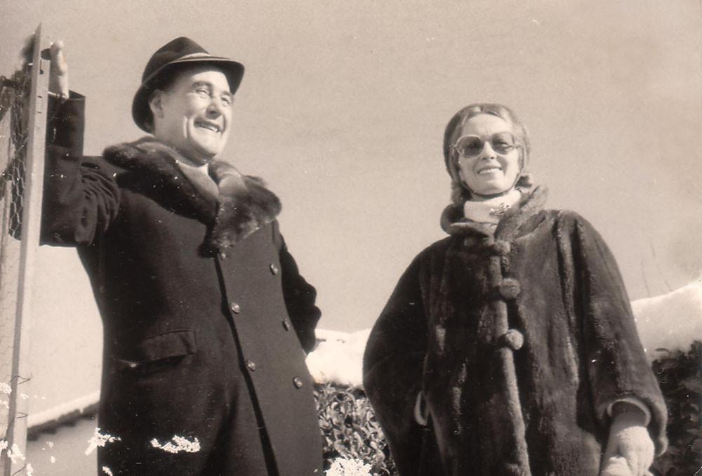 Эрих-Мария Ремарк с первой женой Юттой, Швейцария