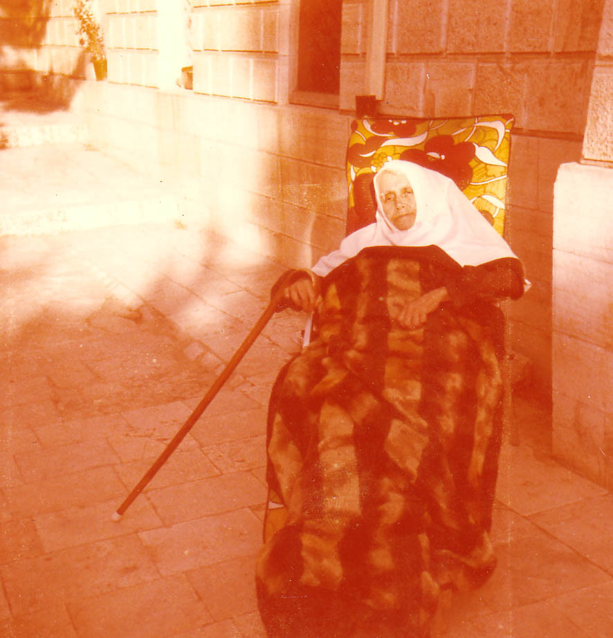 The last photo of Glafira Baltitzky (mother Christiana). The Gethsemany Monastery in Jerusalem, June 1974.