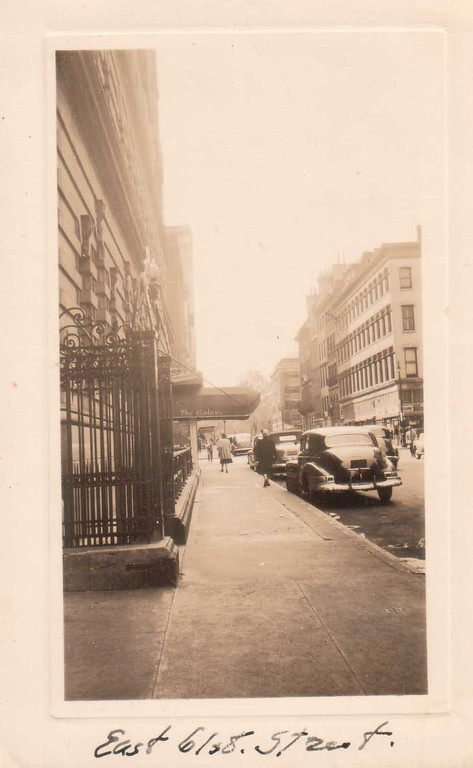 A street in New York City where Constantin and Alina Kogevin lived. 1940s.
