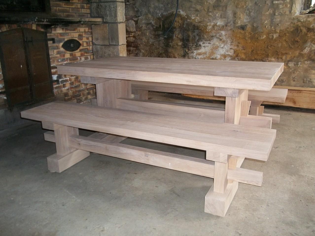 longeur des bancs 2 m 10 assise 0.38 mm