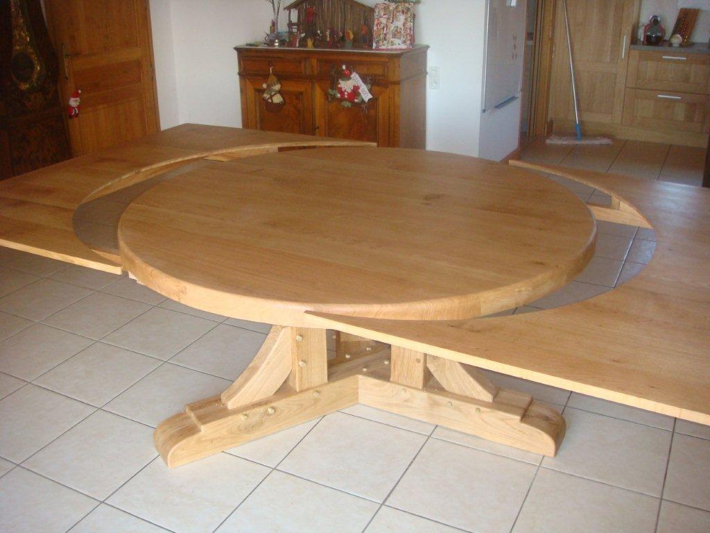 Les rallonges se positionnent trés facilement autour de la table