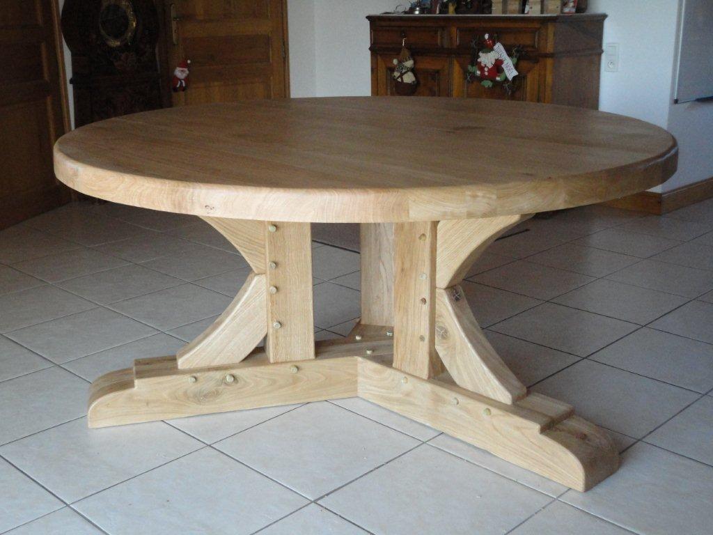 Table en chène 1,65 m de diametre (jusqu'à 9 personnes)