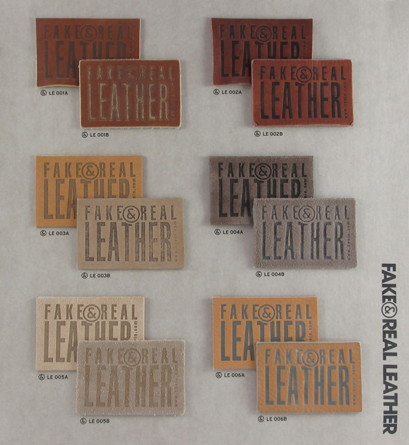 Fake&Real Leather pag.1 - Samples from LE001A-B to LE006A-B (A=not washed - B=stone-washed)