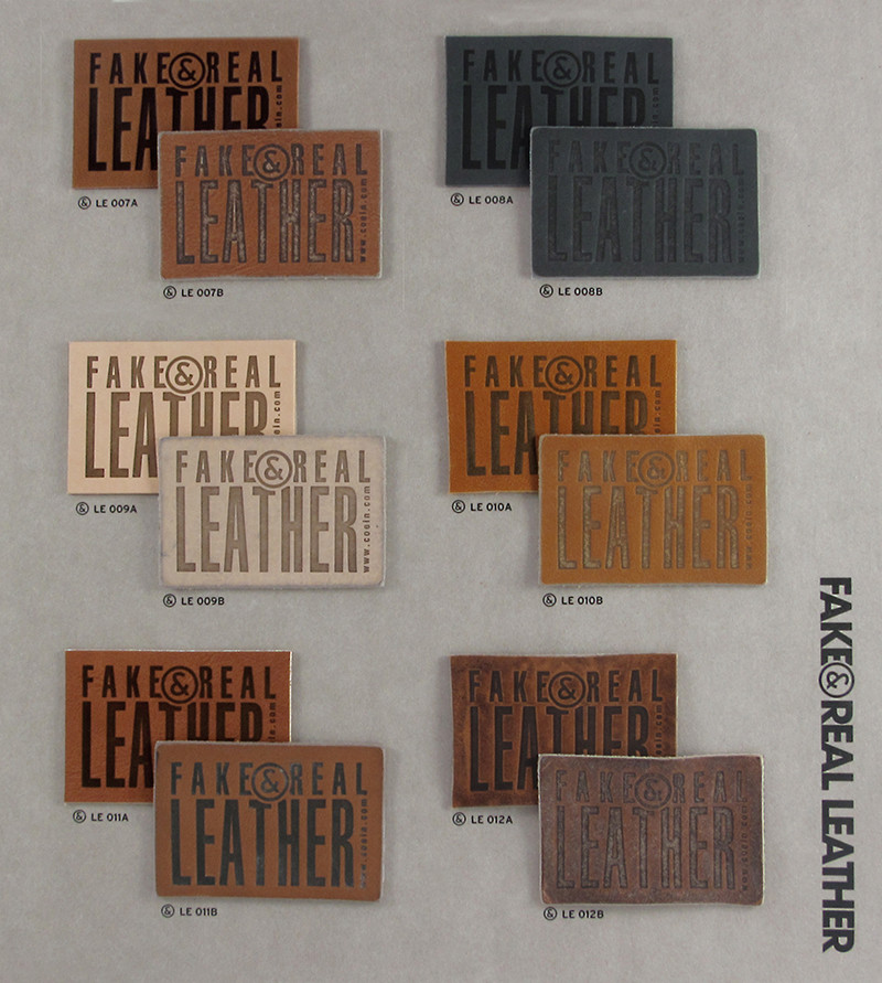 Fake&Real Leather pag.2 - Samples from LE007A-B to LE012A-B (A=not washed - B=stone-washed)