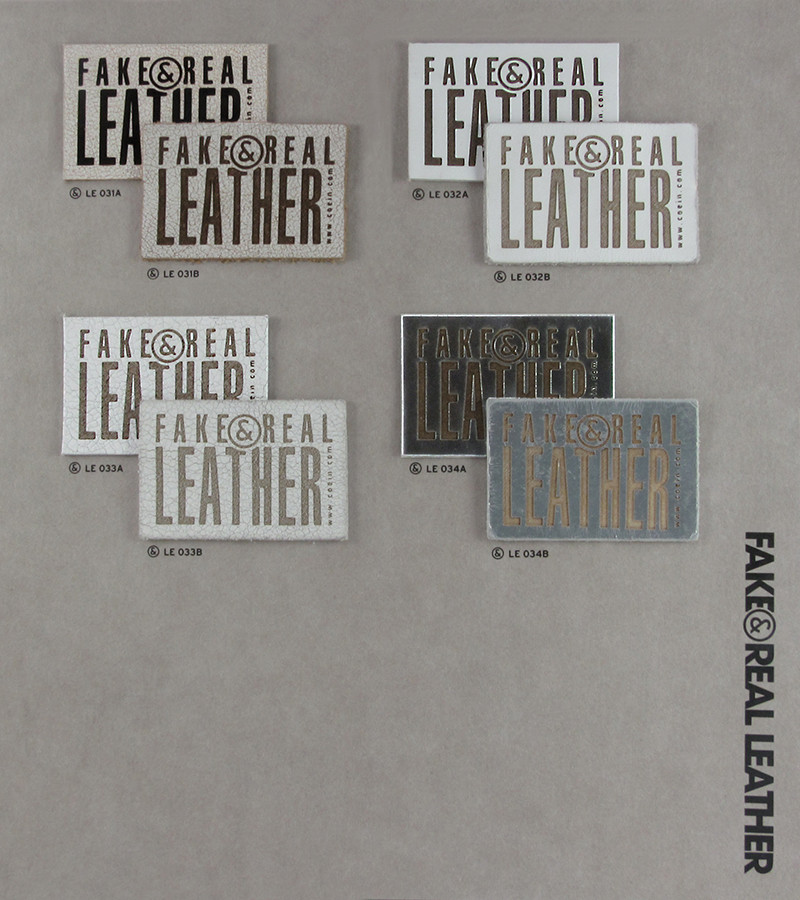 Fake&Real Leather pag.6 - Samples from LE031A-B to LE034A-B (A=not washed - B=stone-washed)