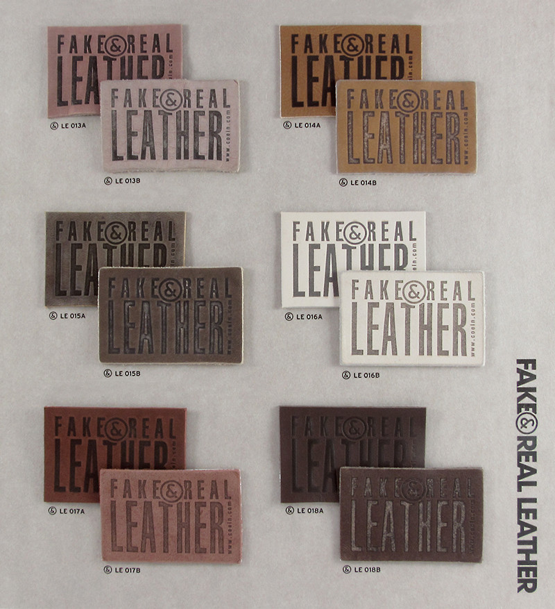 Fake&Real Leather pag.3 - Samples from LE013A-B to LE018A-B (A=not washed - B=stone-washed)
