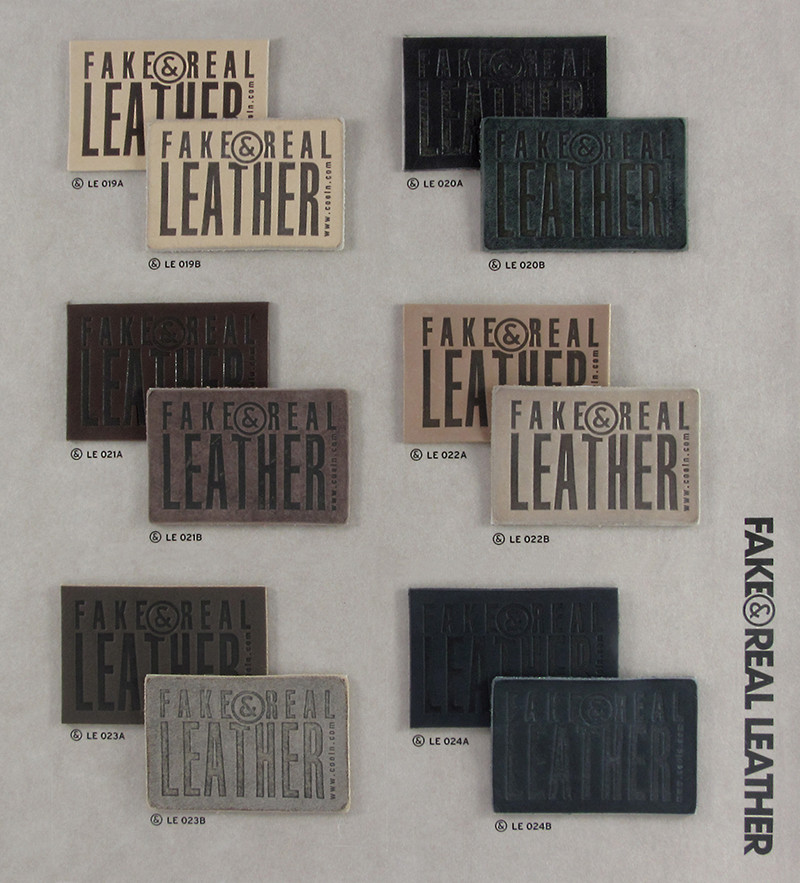 Fake&Real Leather pag.4 - Samples from LE019A-B to LE024A-B (A=not washed - B=stone-washed)