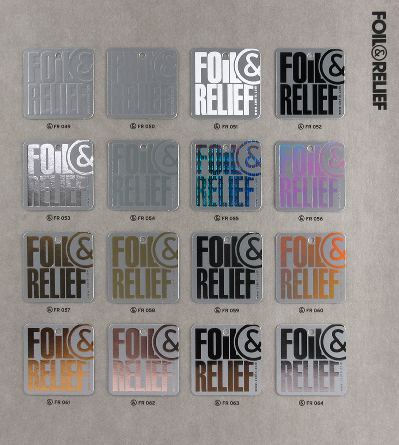 Foil&Relief pag.4 - Samples from FR049 a FR064