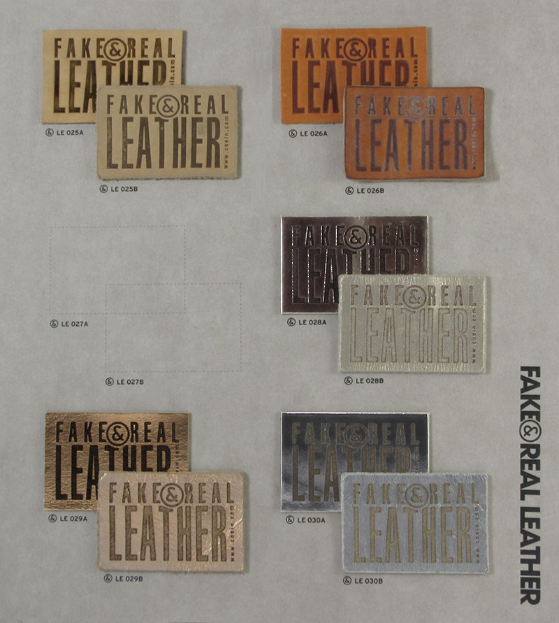 Fake&Real Leather pag.5 - Samples from LE025A-B to LE030A-B (A=not washed - B=stone-washed)