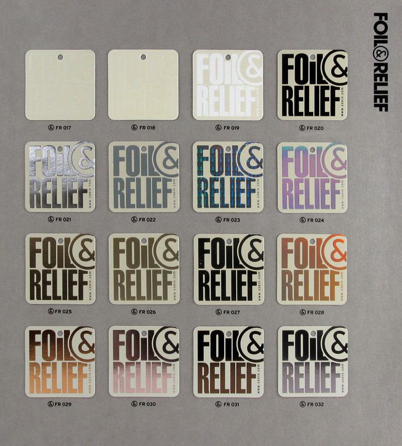 Foil&Relief pag.2 - Samples from FR017 a FR032
