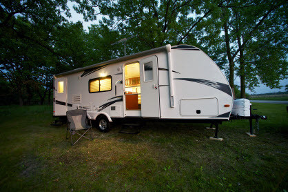 Many campers like this one, rely on heating with propane from propane companies like Hagedorns in Morgantown WV.