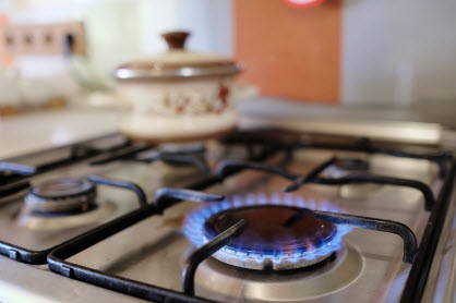 Propane stoves, like this, are popular, but residential propane can also be used for other purposes like clothes drying and water heating.