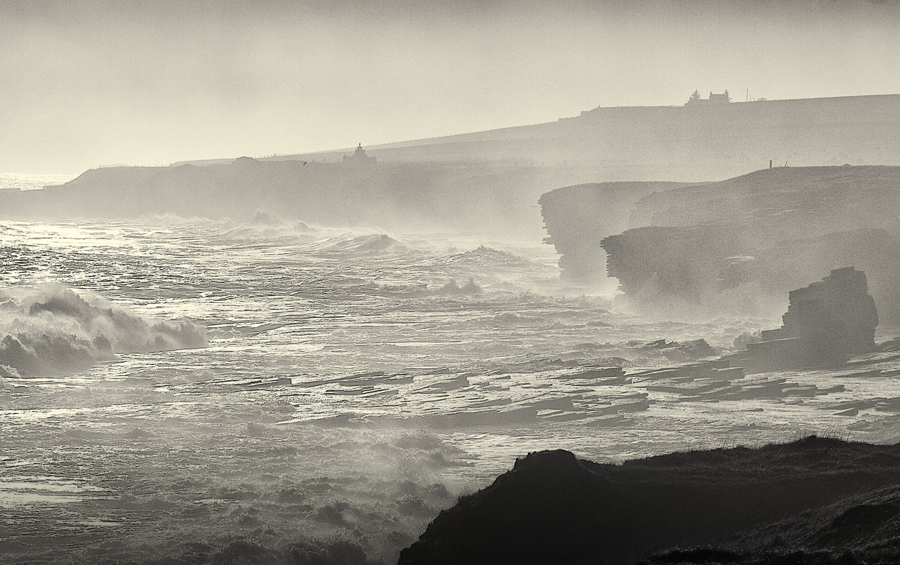 Stormy coast at Thurso
