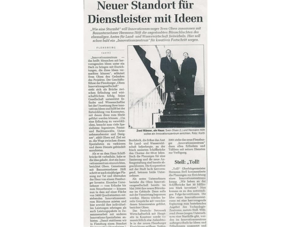 Flensburger Tageblatt aus 2000