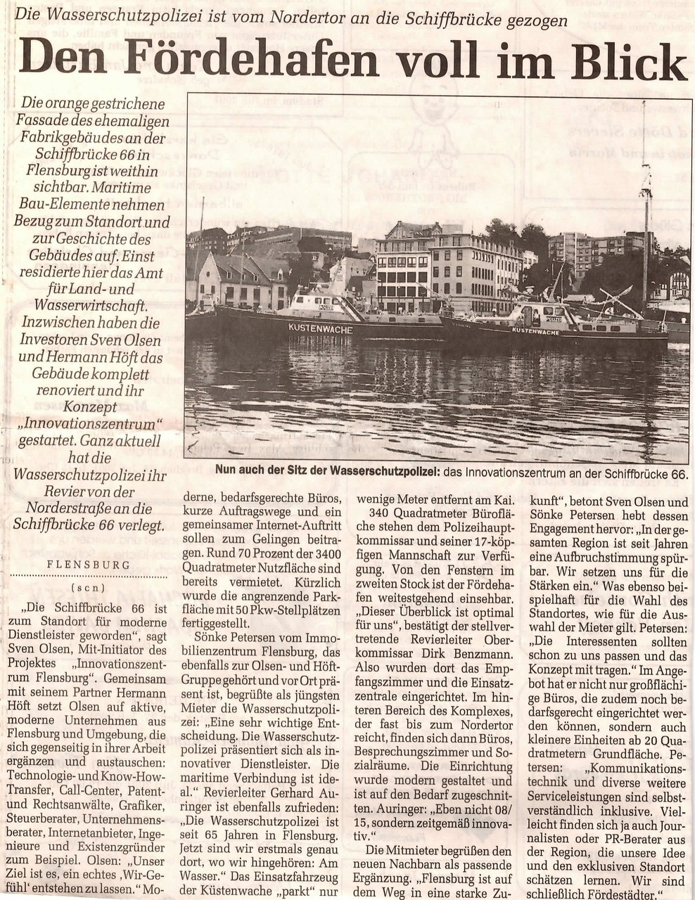 Flensburger Tageblatt vom 18. Juli 2001