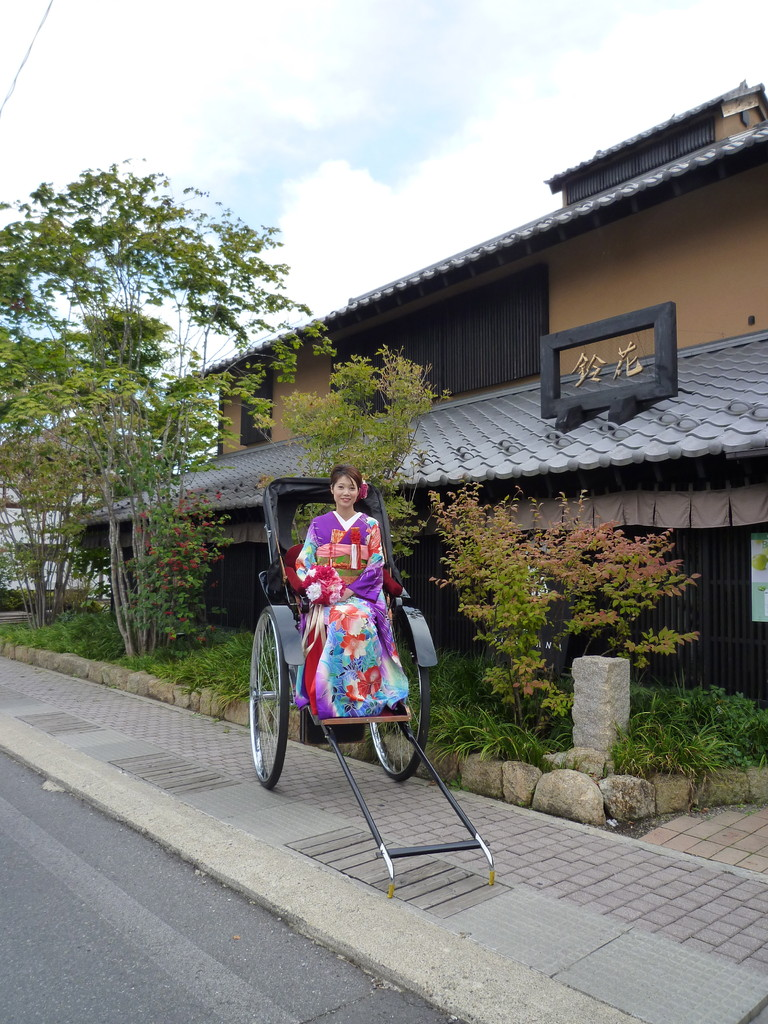 鈴花と着物と人力車!