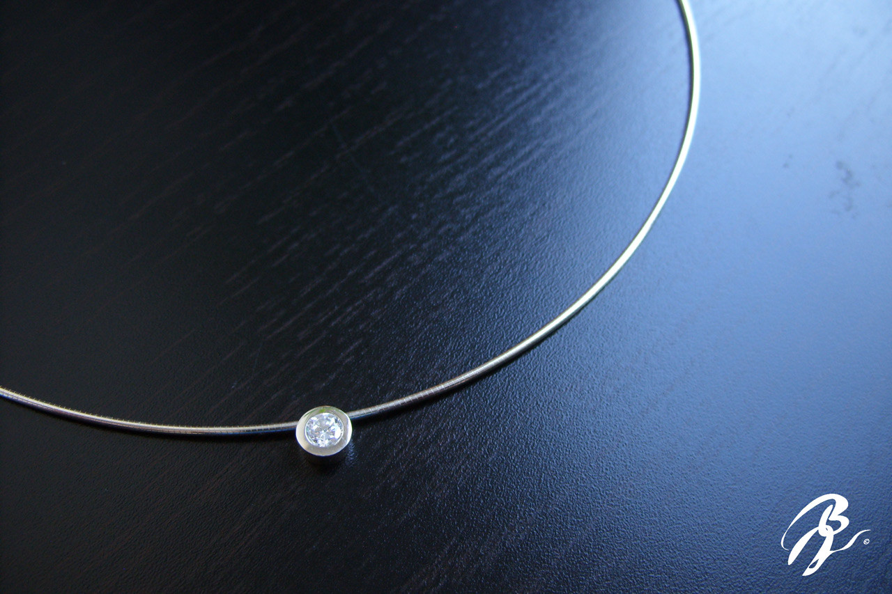 Collar Plata Circonio