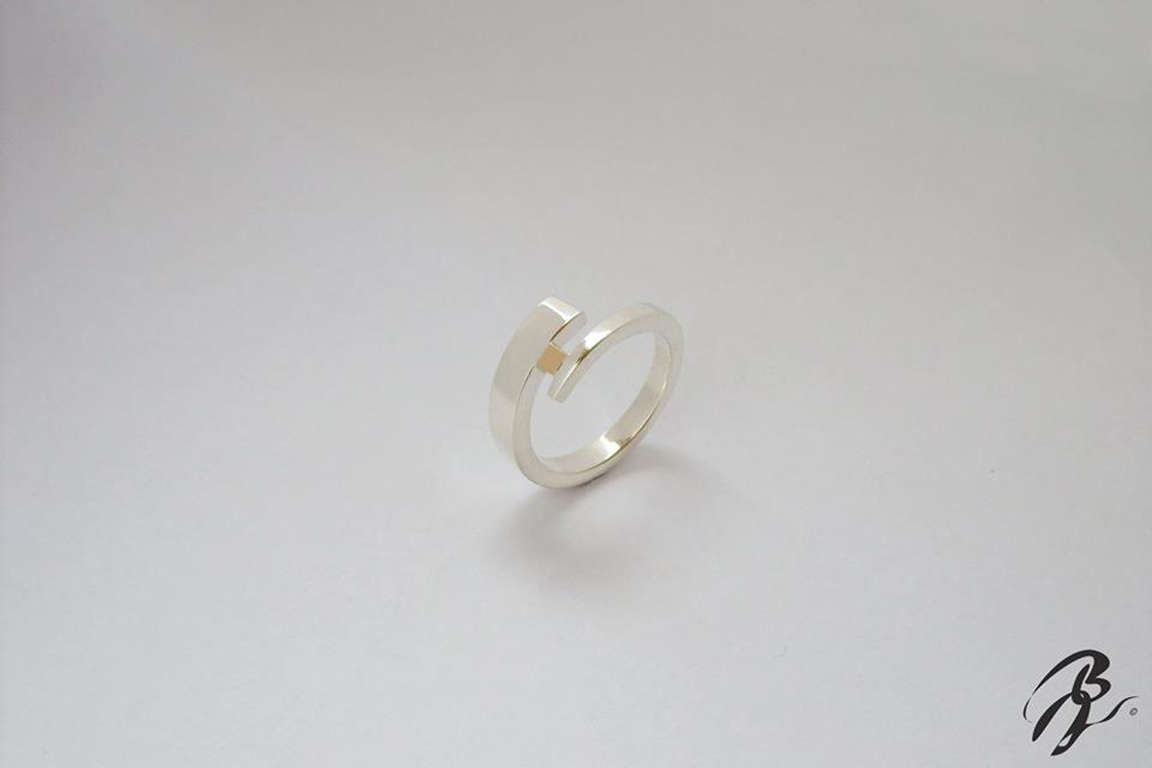 bague spirale argent/or