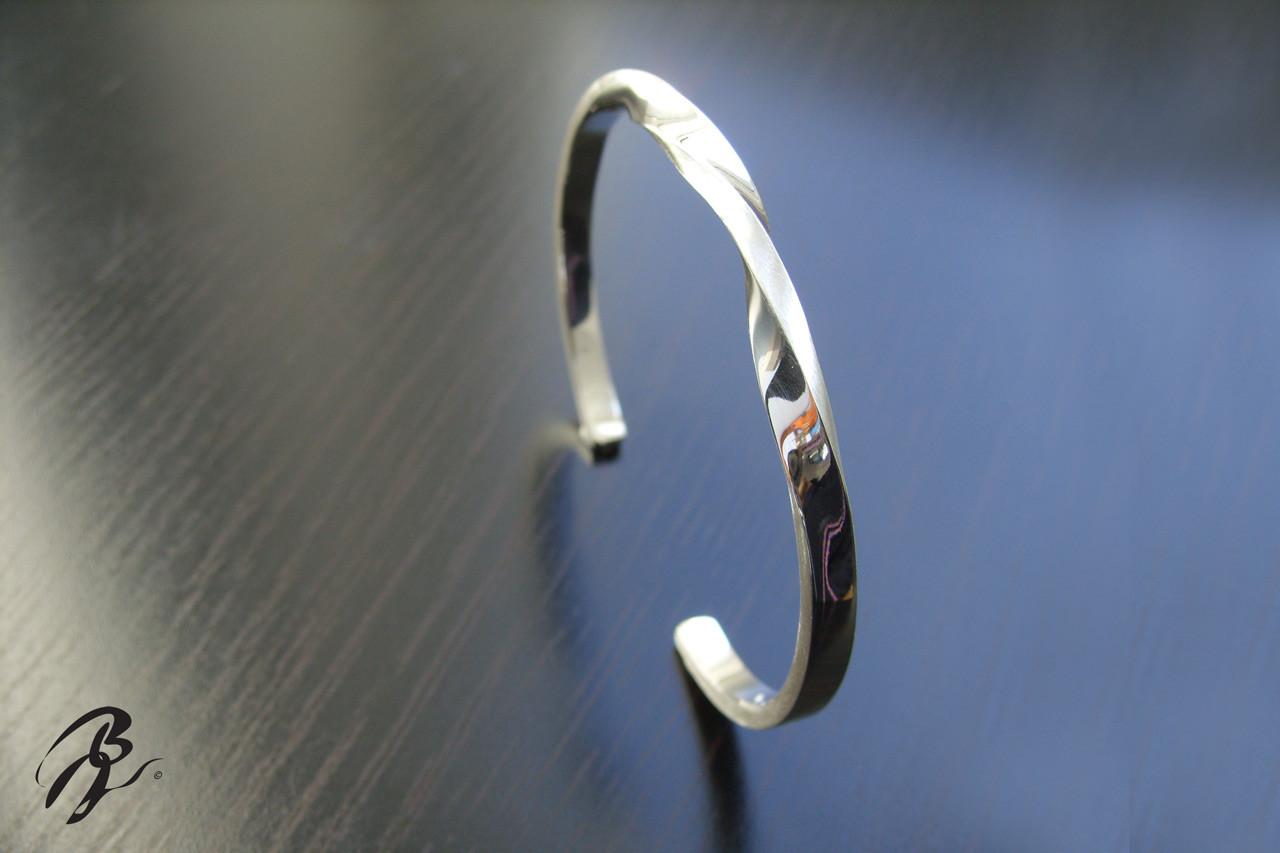 Bracelet Argent Vrillé