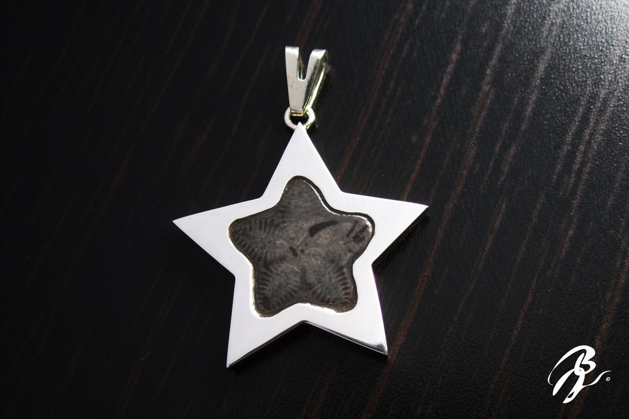 Colgante Plata Estrella Saint-Vincent