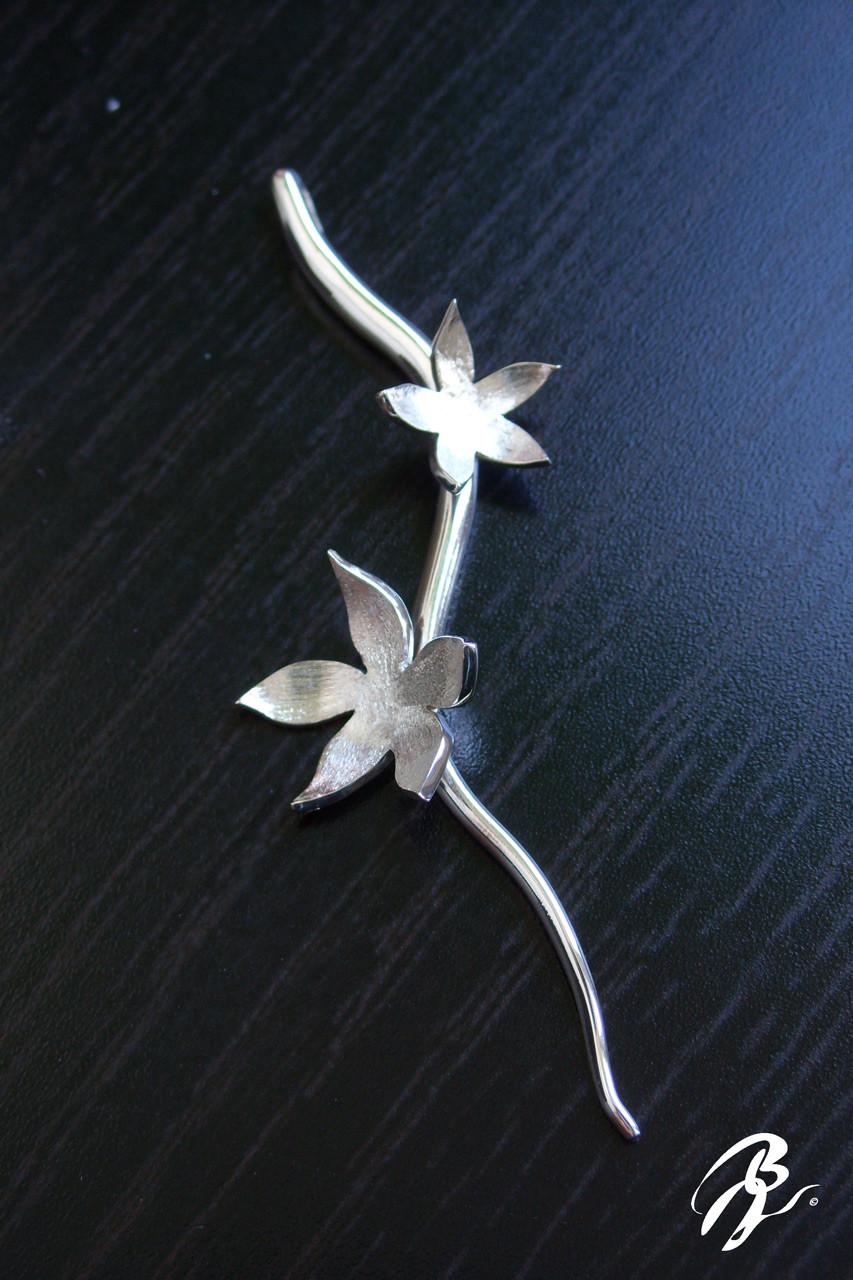 Pendentif Fleurs Argent