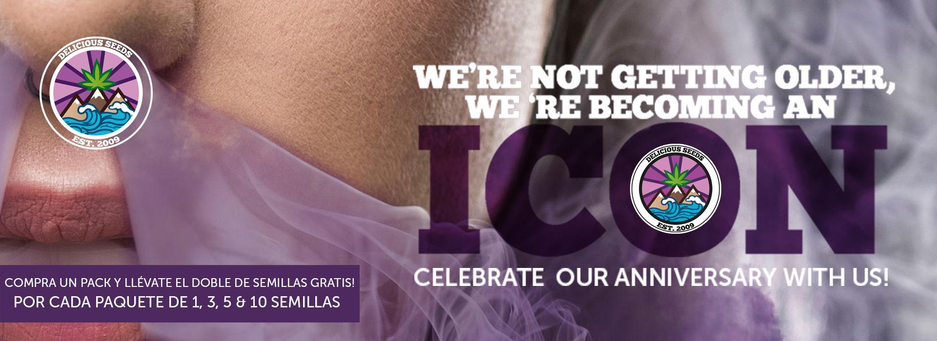 Icon anniversario semi cannabis